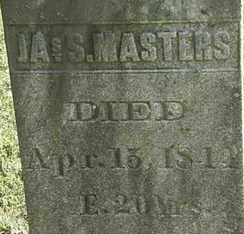 MASTERS, JAS. S. - Erie County, Ohio | JAS. S. MASTERS - Ohio Gravestone Photos