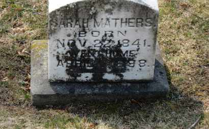 MATHERS, SARAH - Erie County, Ohio | SARAH MATHERS - Ohio Gravestone Photos
