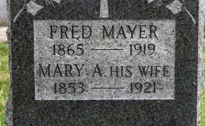 MAYER, FRED - Erie County, Ohio | FRED MAYER - Ohio Gravestone Photos