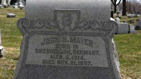 MAYER, JOHN B. - Erie County, Ohio | JOHN B. MAYER - Ohio Gravestone Photos