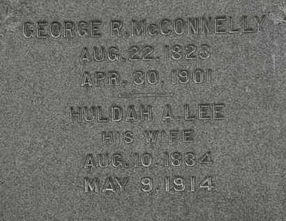 LEE MCCONNELLY, HULDAH A. - Erie County, Ohio | HULDAH A. LEE MCCONNELLY - Ohio Gravestone Photos