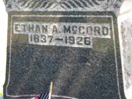 MCCORD, ETHAN A. - Erie County, Ohio | ETHAN A. MCCORD - Ohio Gravestone Photos