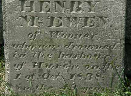 MCEWEN, HENRY - Erie County, Ohio | HENRY MCEWEN - Ohio Gravestone Photos