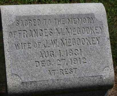 MCGOOKEY, FRANCES M. - Erie County, Ohio | FRANCES M. MCGOOKEY - Ohio Gravestone Photos