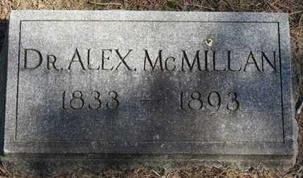 MCMILLAN, ALEX - Erie County, Ohio | ALEX MCMILLAN - Ohio Gravestone Photos