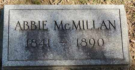 MCMILLAN, ABBIE - Erie County, Ohio | ABBIE MCMILLAN - Ohio Gravestone Photos