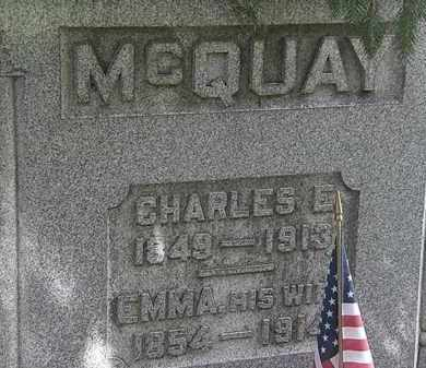 MCQUAY, EMMA - Erie County, Ohio | EMMA MCQUAY - Ohio Gravestone Photos