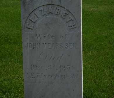 MEARS, ELIZABETH - Erie County, Ohio | ELIZABETH MEARS - Ohio Gravestone Photos
