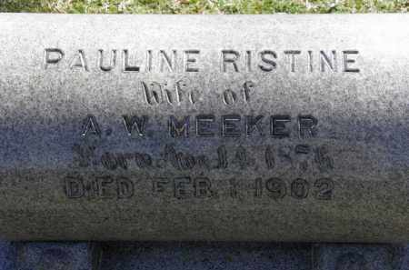 MEEKER, A.W. - Erie County, Ohio | A.W. MEEKER - Ohio Gravestone Photos
