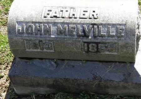 MELVILLE, JOHN - Erie County, Ohio | JOHN MELVILLE - Ohio Gravestone Photos