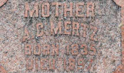 MERTZ, A.C. - Erie County, Ohio | A.C. MERTZ - Ohio Gravestone Photos