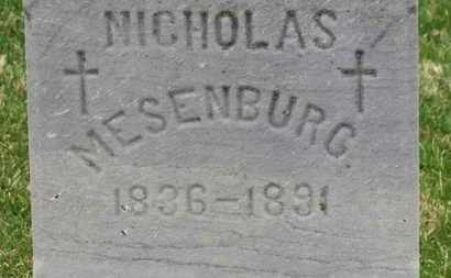 MESENBURG, NICHOLAS - Erie County, Ohio | NICHOLAS MESENBURG - Ohio Gravestone Photos