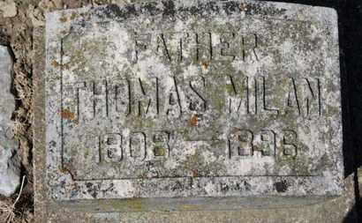 MILAN, THOMAS - Erie County, Ohio | THOMAS MILAN - Ohio Gravestone Photos