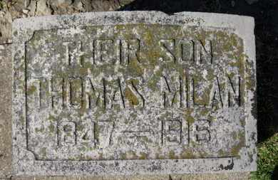 MILAN, THOMAS - Erie County, Ohio | THOMAS MILAN - Ohio Gravestone Photos