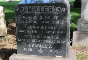 MILLER, ADATUS D. - Erie County, Ohio | ADATUS D. MILLER - Ohio Gravestone Photos