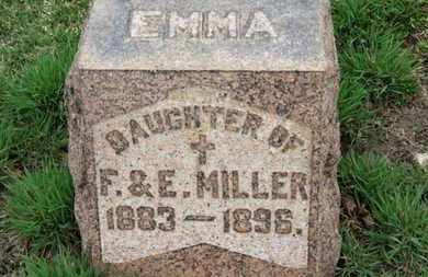 MILLER, EMMA - Erie County, Ohio | EMMA MILLER - Ohio Gravestone Photos