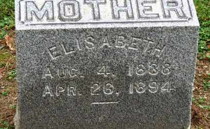 MILLER, ELISABETH - Erie County, Ohio | ELISABETH MILLER - Ohio Gravestone Photos