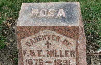 MILLER, ROSA - Erie County, Ohio | ROSA MILLER - Ohio Gravestone Photos