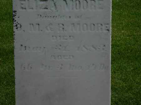 MOORE, ELIZA - Erie County, Ohio | ELIZA MOORE - Ohio Gravestone Photos