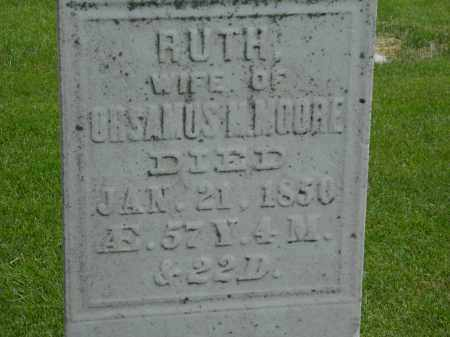 MOORE, RUTH - Erie County, Ohio | RUTH MOORE - Ohio Gravestone Photos