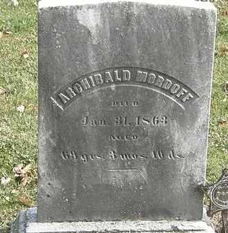 MORDOFF, ARCHIBOLD - Erie County, Ohio | ARCHIBOLD MORDOFF - Ohio Gravestone Photos