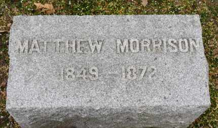 MORRISON, MATHEW - Erie County, Ohio | MATHEW MORRISON - Ohio Gravestone Photos