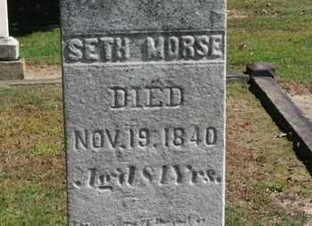 MORSE, SETH - Erie County, Ohio | SETH MORSE - Ohio Gravestone Photos