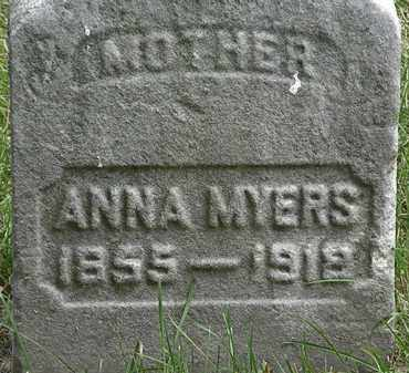 MYERS, ANNA - Erie County, Ohio | ANNA MYERS - Ohio Gravestone Photos