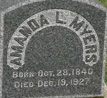 MYERS, AMANDA - Erie County, Ohio | AMANDA MYERS - Ohio Gravestone Photos