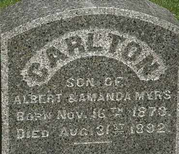 MYERS, CARLTON - Erie County, Ohio | CARLTON MYERS - Ohio Gravestone Photos
