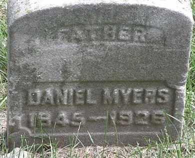 MYERS, DANIEL - Erie County, Ohio | DANIEL MYERS - Ohio Gravestone Photos