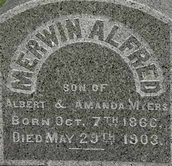 MYERS, EDWIN AKFRED - Erie County, Ohio | EDWIN AKFRED MYERS - Ohio Gravestone Photos