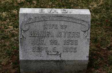 MYERS, EVA D. - Erie County, Ohio | EVA D. MYERS - Ohio Gravestone Photos