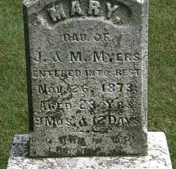 MYERS, MARY - Erie County, Ohio | MARY MYERS - Ohio Gravestone Photos
