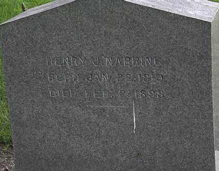 NABRING, HENRY J. - Erie County, Ohio | HENRY J. NABRING - Ohio Gravestone Photos
