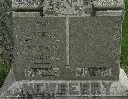 NEWBERRY, JOHN - Erie County, Ohio | JOHN NEWBERRY - Ohio Gravestone Photos
