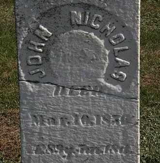 NICHOLAS, JOHN - Erie County, Ohio | JOHN NICHOLAS - Ohio Gravestone Photos