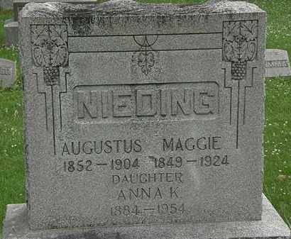 NIEDING, MAGGIE - Erie County, Ohio | MAGGIE NIEDING - Ohio Gravestone Photos