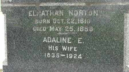 NORTON, ADALINE E. - Erie County, Ohio | ADALINE E. NORTON - Ohio Gravestone Photos