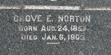 NORTON, GROVE E. - Erie County, Ohio | GROVE E. NORTON - Ohio Gravestone Photos