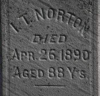 NORTON, I.T. - Erie County, Ohio | I.T. NORTON - Ohio Gravestone Photos