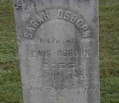 OSBORN, SARAH - Erie County, Ohio | SARAH OSBORN - Ohio Gravestone Photos