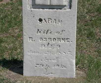 OSBORNE, SARAH - Erie County, Ohio | SARAH OSBORNE - Ohio Gravestone Photos
