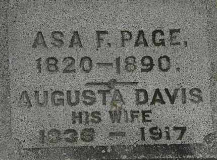 PAGE, ASA F. - Erie County, Ohio | ASA F. PAGE - Ohio Gravestone Photos