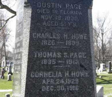 HOWE, CORNELIA H. - Erie County, Ohio | CORNELIA H. HOWE - Ohio Gravestone Photos