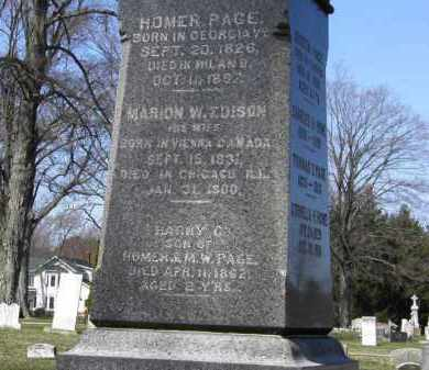 PAGE, HOMER - Erie County, Ohio | HOMER PAGE - Ohio Gravestone Photos