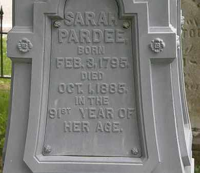 PARDEE, SARAH - Erie County, Ohio | SARAH PARDEE - Ohio Gravestone Photos