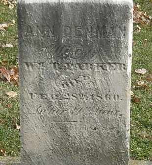 DENMAN PARKER, ANN - Erie County, Ohio | ANN DENMAN PARKER - Ohio Gravestone Photos