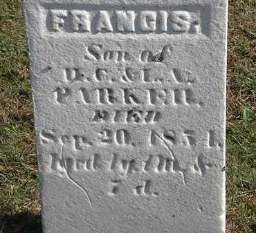 PARKER, FRANCIS - Erie County, Ohio | FRANCIS PARKER - Ohio Gravestone Photos