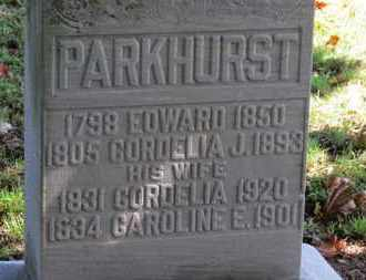 PARKHURST, CORDELIA - Erie County, Ohio | CORDELIA PARKHURST - Ohio Gravestone Photos